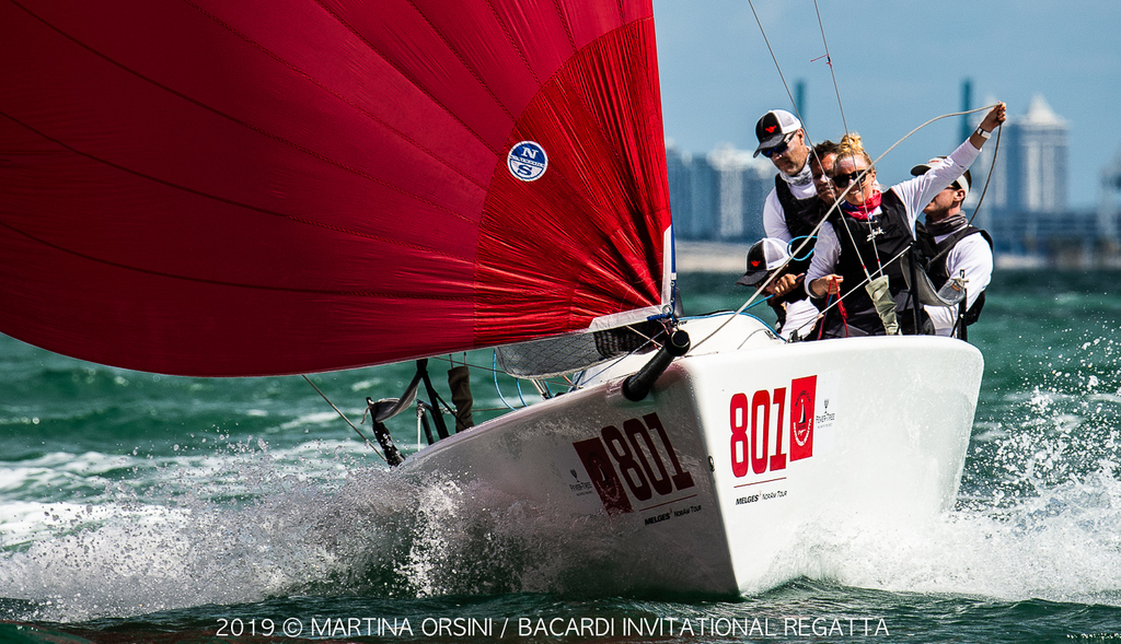 Bacardi Invitational Regatta – Race day 1 for J/70, Melges 24, Viper 640 and Flying Tigers