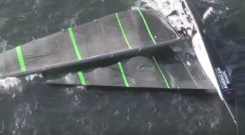 3addd2627a Video emerges of the Dean Barker America s Cup test boat