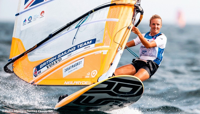 Pete Keeping Atlantic Sailing on-board for Olympic windsurfer