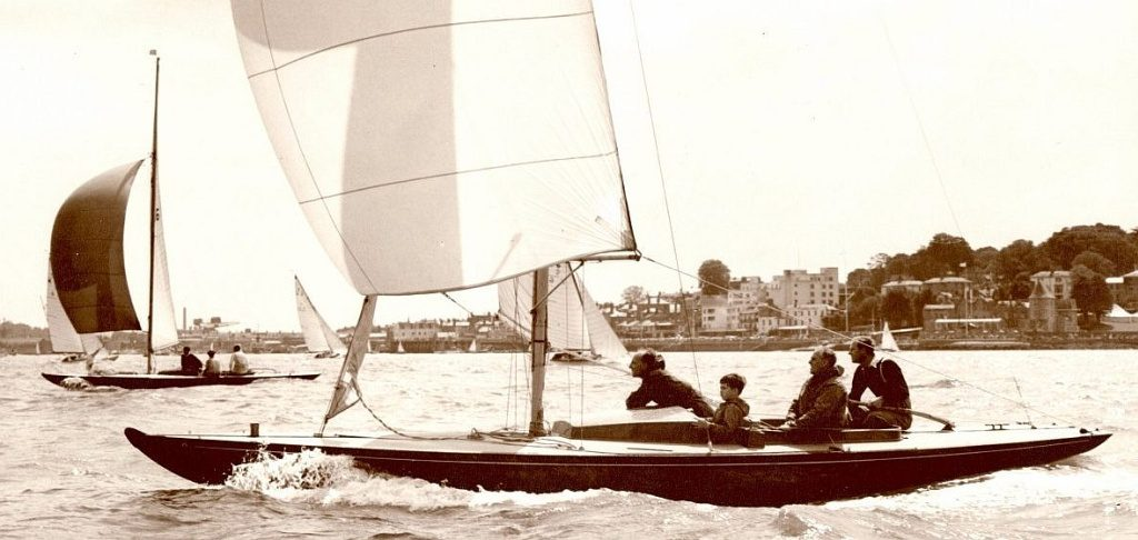 Royal Dragon Bluebottle racing at Cowes