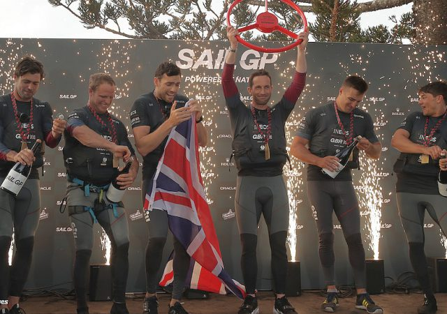 SailGP GB take the podium