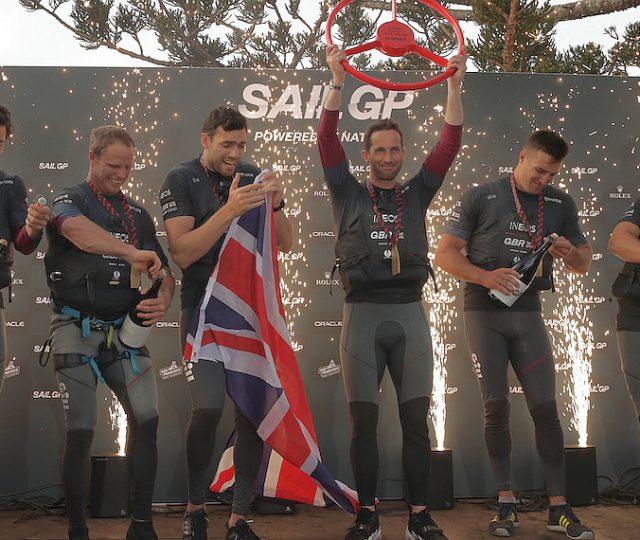 SailGP GB take the podium