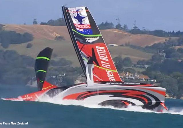 ETNZ capsize in practice race