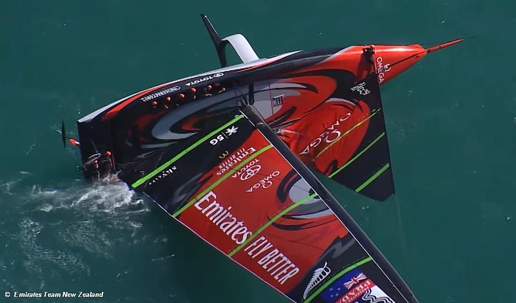 ETNZ Capsize in Practice racing