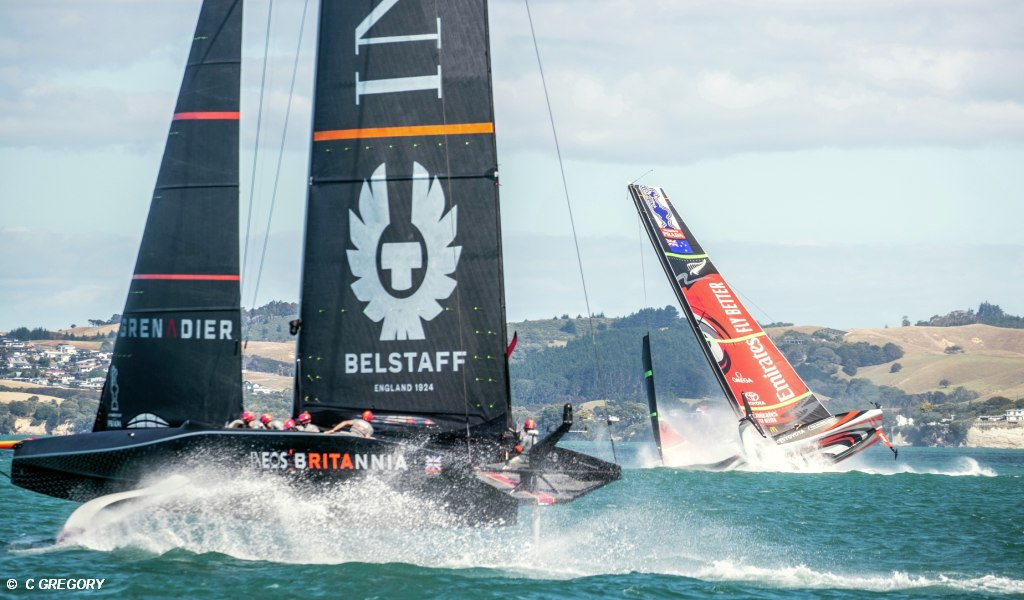 Ineos and ETNZ practice race