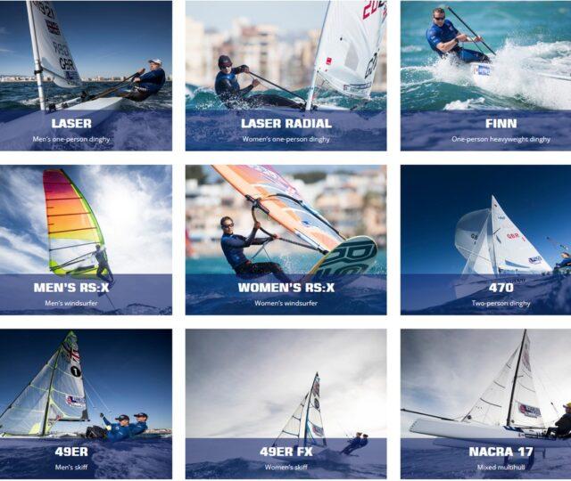 Team GB Olympic Sailing Team 2020