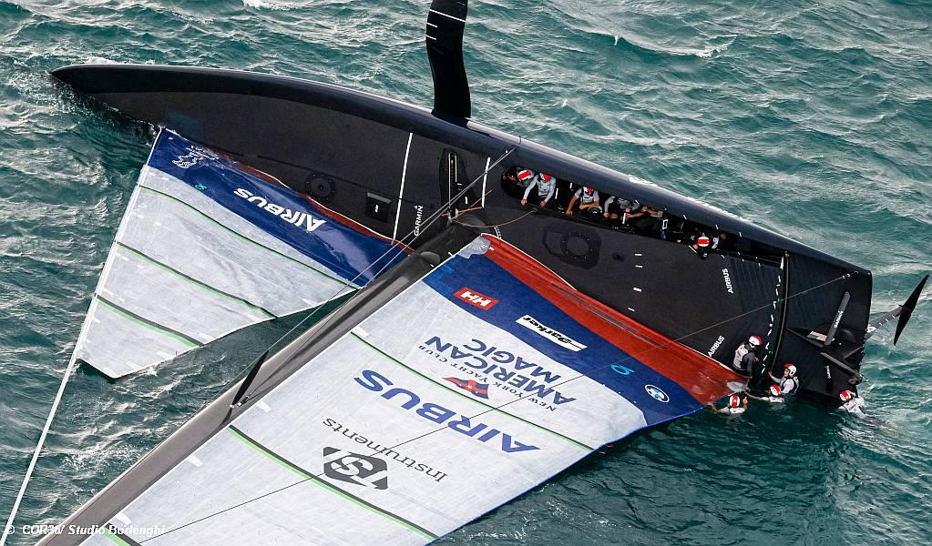 Prada Cup - American Magic capsize