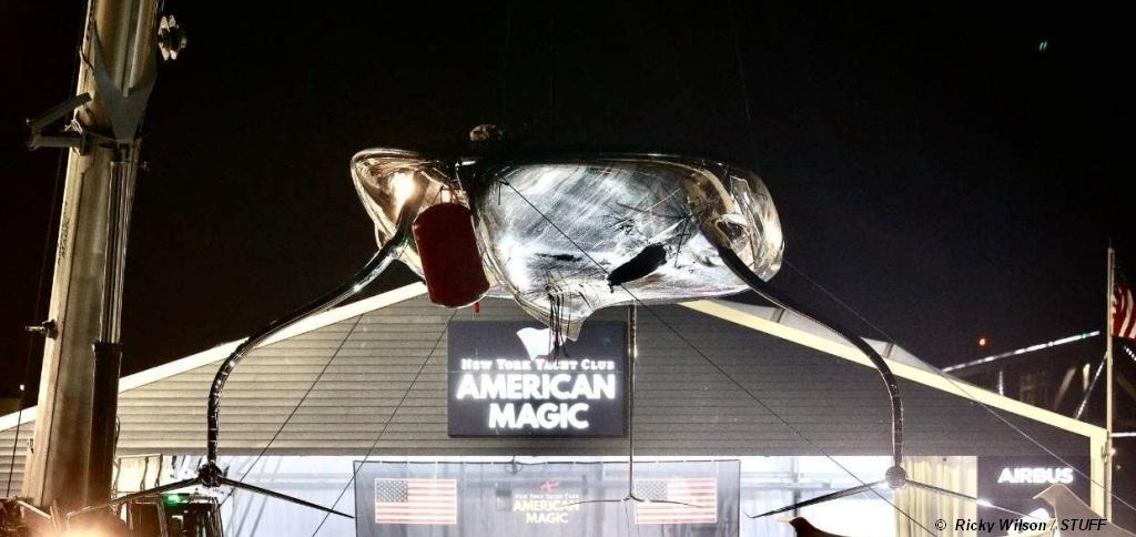 American Magic holed