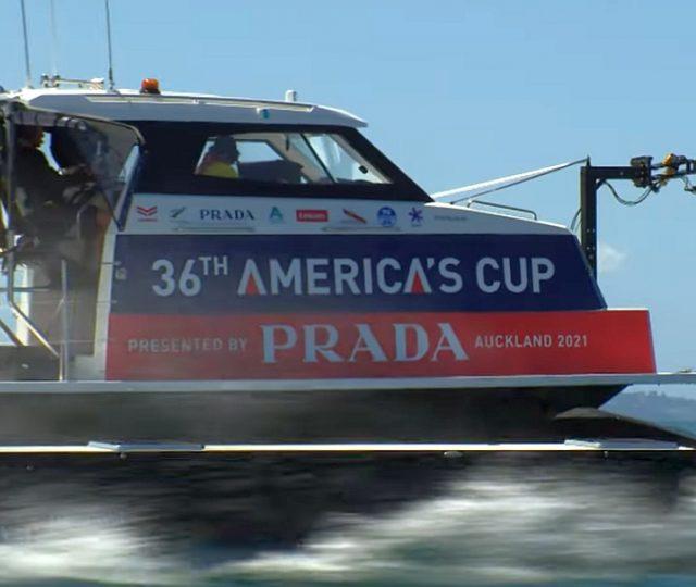 Prada Cup Media Chase Boat