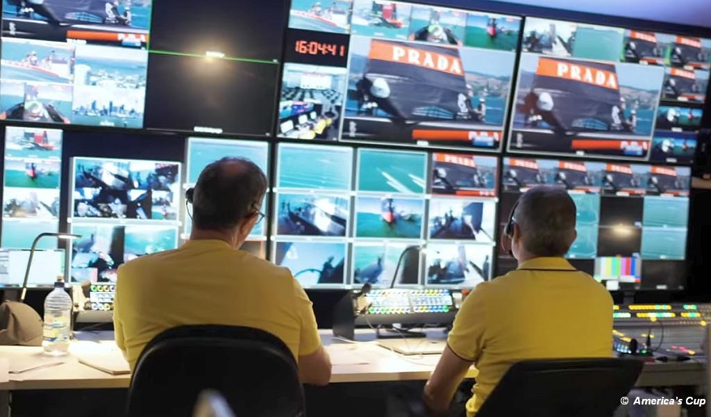 Prada Cup Media Control Room