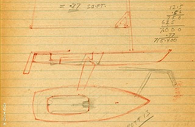 Laser design sketch by Bruce Kirby