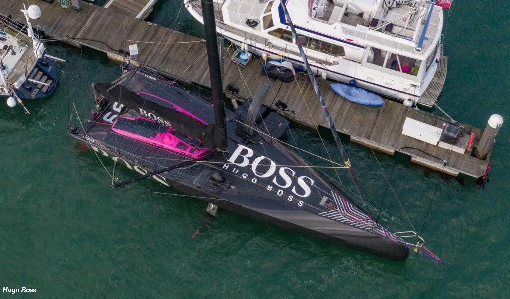 Hugo Boss at Haslar Marina, UK