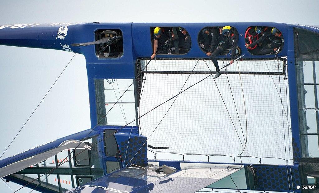 SailGP AUS Capsize US Boat
