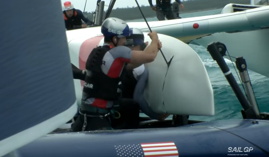 SailGP Bermuda USA Collide