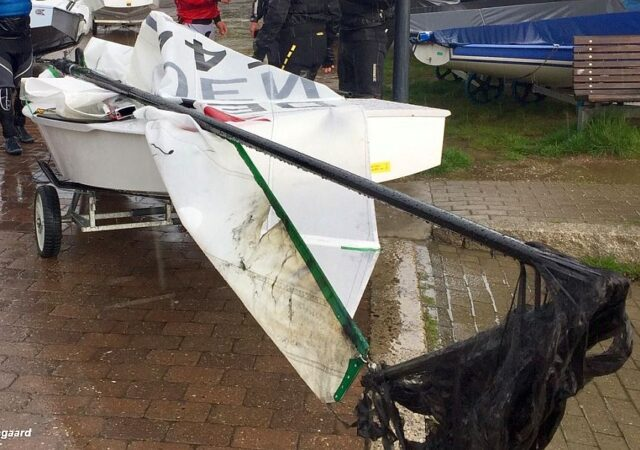 OK Dinghy lightning damage
