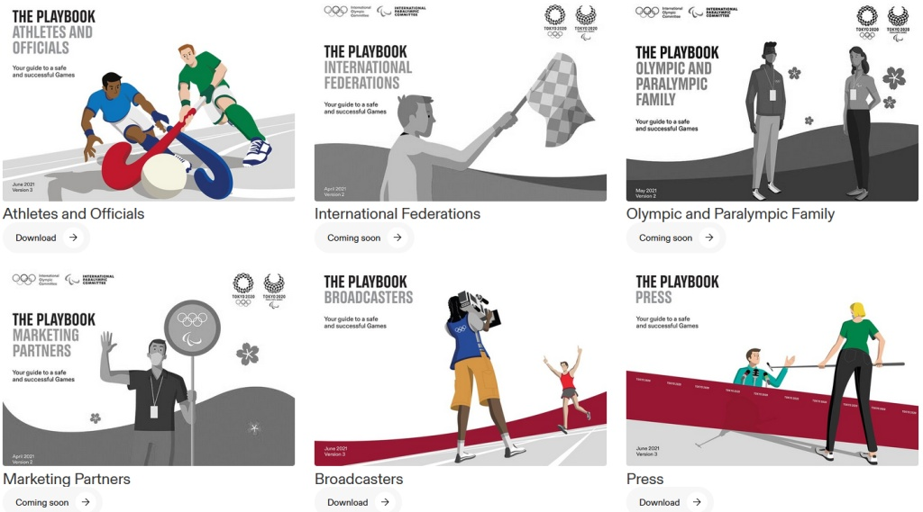 Tokyo Olympic Playbooks