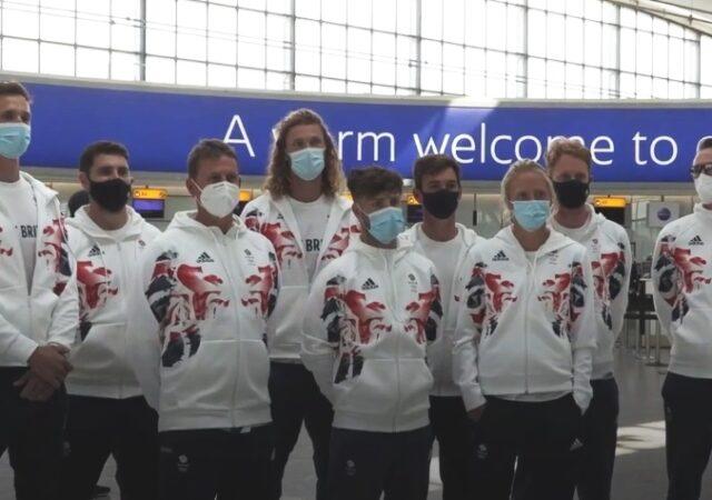 Team GB 1st Sailors leave