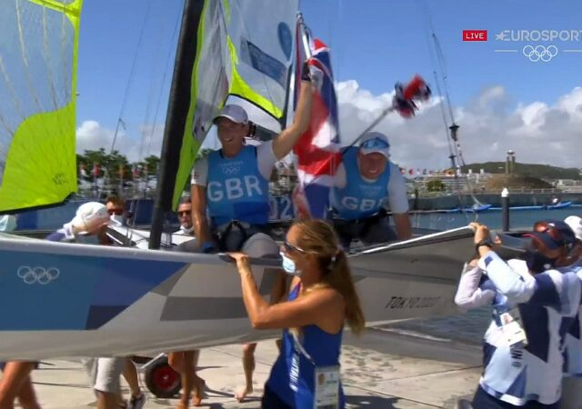 Tokyo Games 49er Gold GBR Carried Out