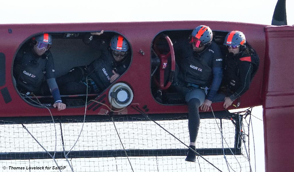 Spain SailGP - Team GB capsize
