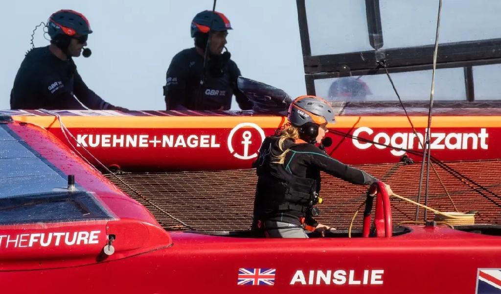 SailGP GBR Hannah Mills on Board